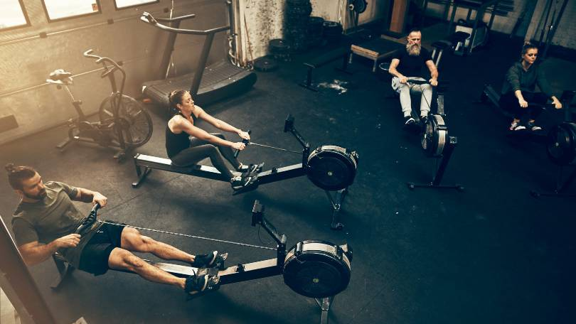 People Using the Best Full-Body Workout Machines at a Gym