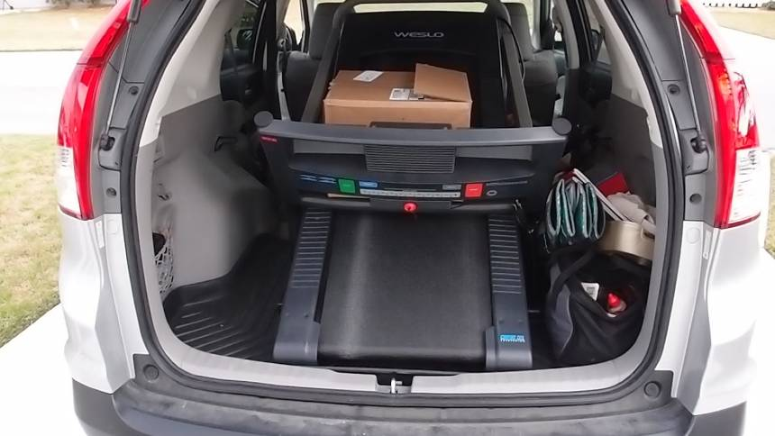 treadmill in a car