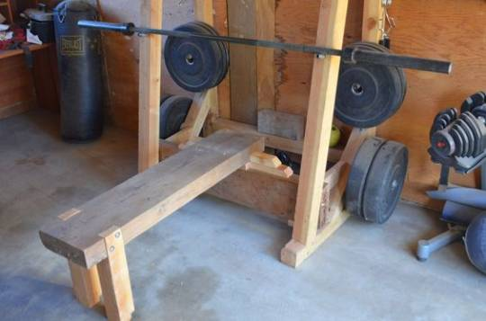 diy weight bench and squat rack
