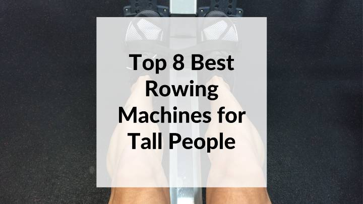 tall people rowing on a rowing machine