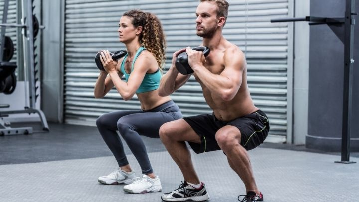 men and women doing exercise on the home gym